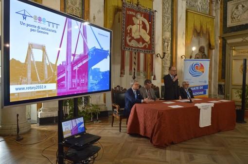 Consegnati al Comune i fondi raccolti dal Rotary per le vittime del ponte Morandi