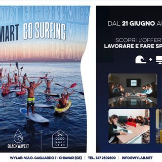 """""""Work Smart, Go Surfing"""": parte il 21 giugno la collaborazione tra Wylab e le società Blackwave e Roofless"""