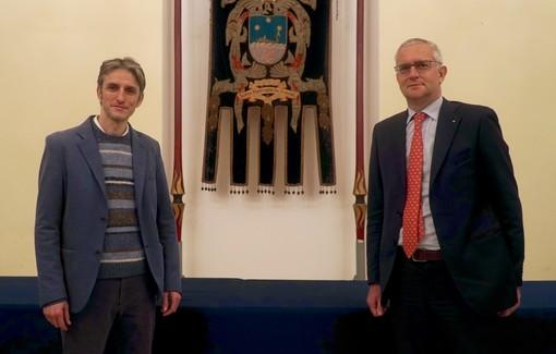 Nella foto il Sindaco Paolo Donadoni e il nuovo Amministratore Unico della Progetto Santa Margherita Srl Alberto Cappato