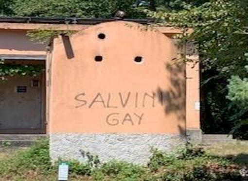 """Puggioni: """"Rifugio del Parco di Portofino deturpato da scritta su Salvini"""""""