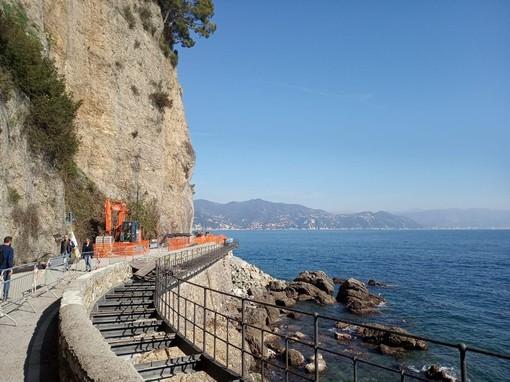 Di nuovo carrabile la strada per Portofino, ma per ora niente mezzi privati