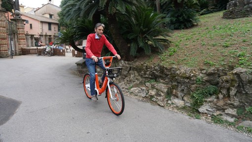 Santa Margherita Ligure testa la nuova bici a pedalata assistita di Mobike