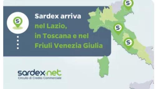 Sardex.net la Community dell'economia reale, avvia le sue attività   nel Lazio, in Toscana e in Friuli Venezia Giulia  e accoglie i primi aderenti dei nuovi territori