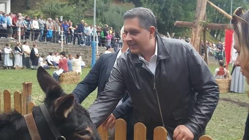 Grande successo a Mendatica per la Festa della Transumanza: l'intervista a Giovanni Toti (FOTO e VIDEO)