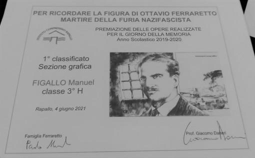 Consegnate presso la scuola di Rapallo le borse di studio in ricordo di Ottavio Ferraretto, antifascista rapallese  fucilato a Cherasco