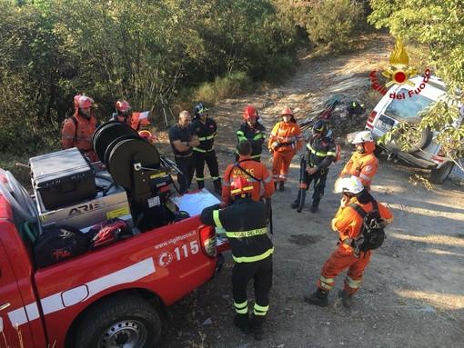 Genova, addestramento congiunto di vigili del fuoco e protezione civile sulle alture di Recco