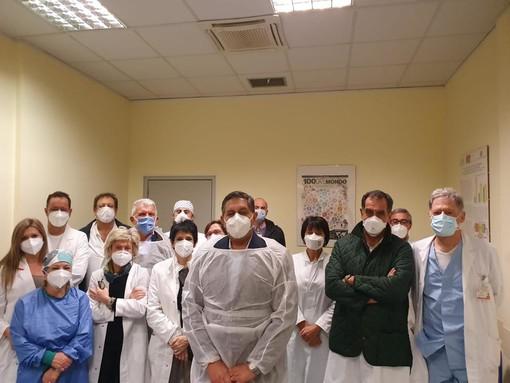 Sopralluogo del presidente Toti all'ospedale Villa Scassi (VIDEO)