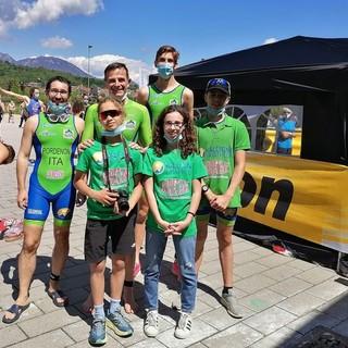 Al Triathlon di Pinerolo per Valdigne Triathlon Massa oro tra gli M4, Giuliano e Rondelli bronzo tra i giovani
