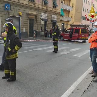 I vigili del fuoco di Genova Bolzaneto intervengono a Teglia per una fuga di gas