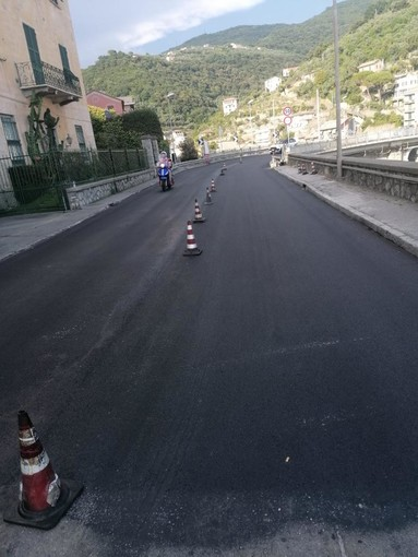 Riaperto a doppio senso il viadotto della statale Aurelia a Sori (FOTO)