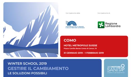 """Winter School 2019 """"Gestire il cambiamento - Le soluzioni possibili"""""""